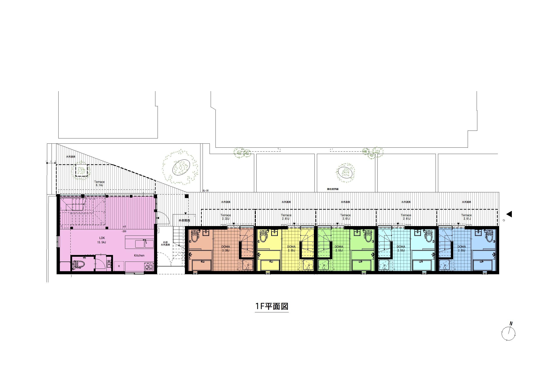西瑞江_間取り図(全体平面)1F
