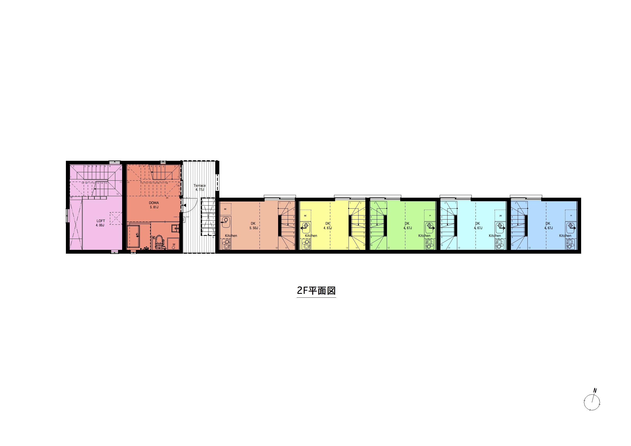 西瑞江_間取り図(全体平面)2F